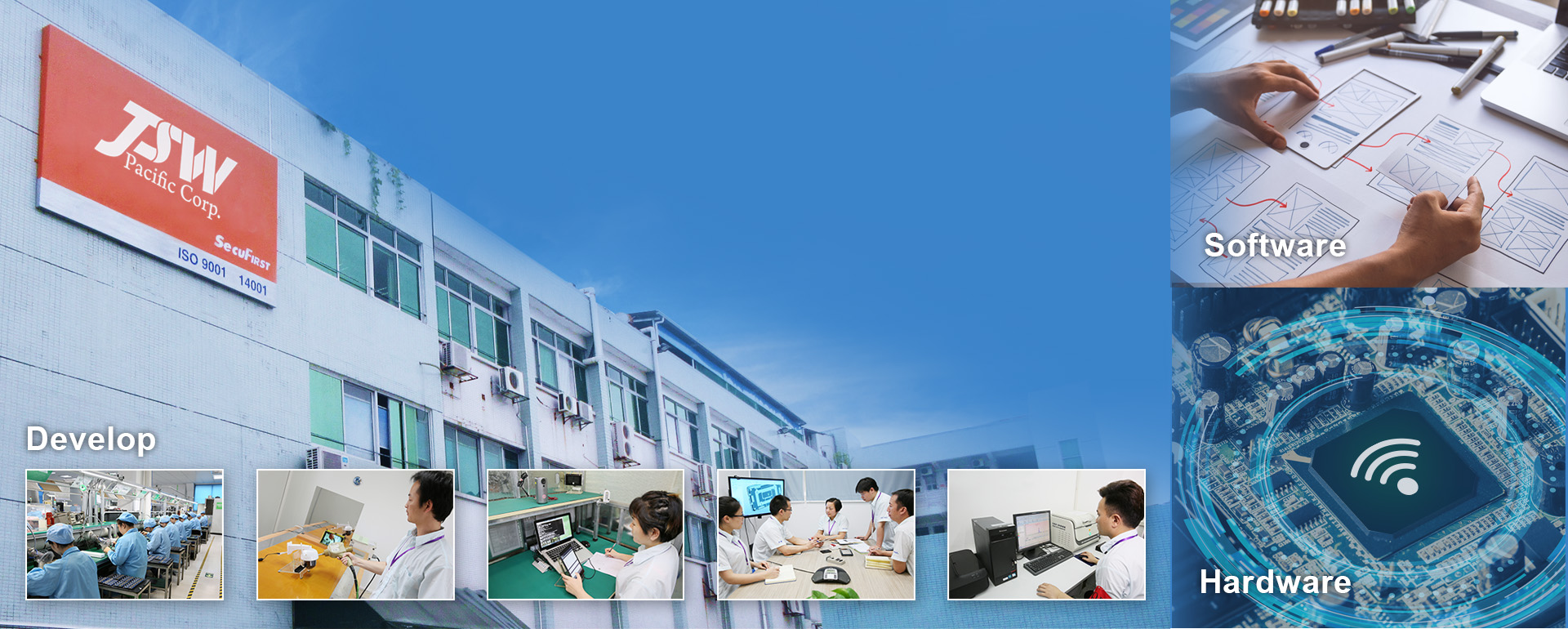 Total Solution OEM & ODM manufacturer. Hardware and software for wireless electronics. Focus on Home Security IOT.